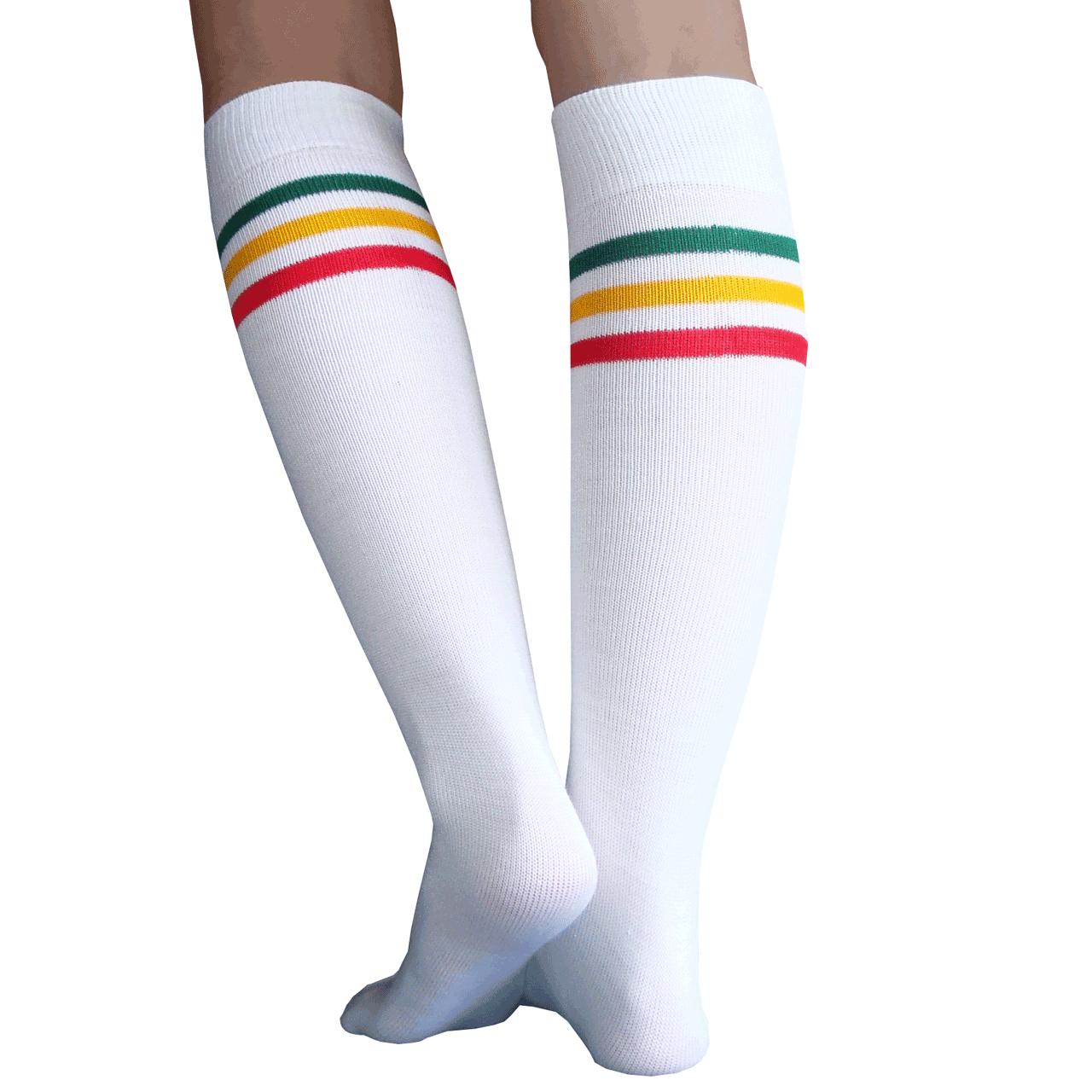 White Rasta Socks
