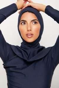 Navy Blue Swim Hijab