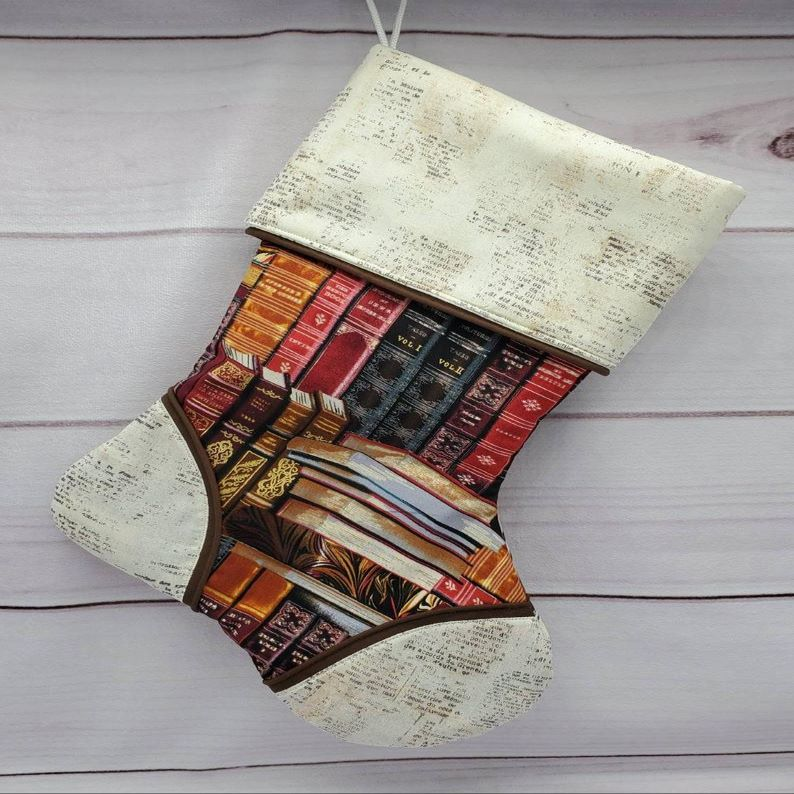 Bookworm Holiday Stocking