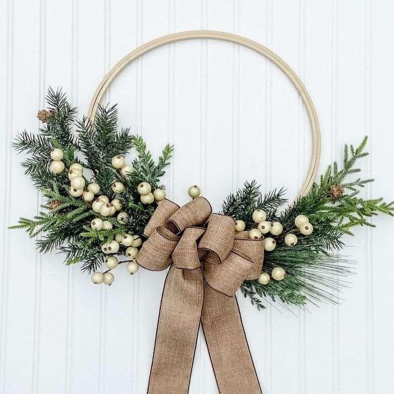 Christmas Farmhouse Wreath