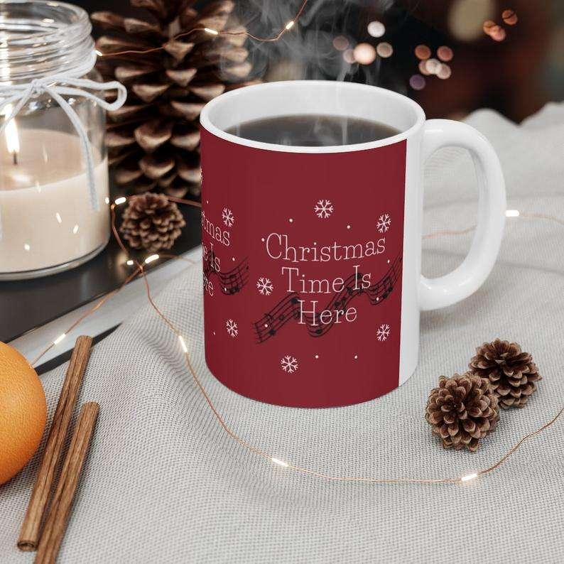 'Christmas Time Is Here' Mug