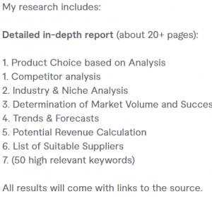 Fiverr Product Research