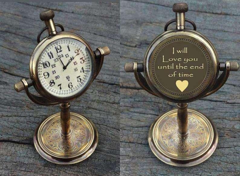 Personalized Antique Desk Clock