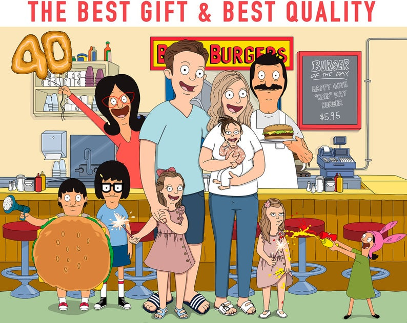 Custom Bob's Burgers Portrait